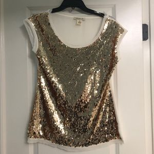 Gold Sequin Front Blouse